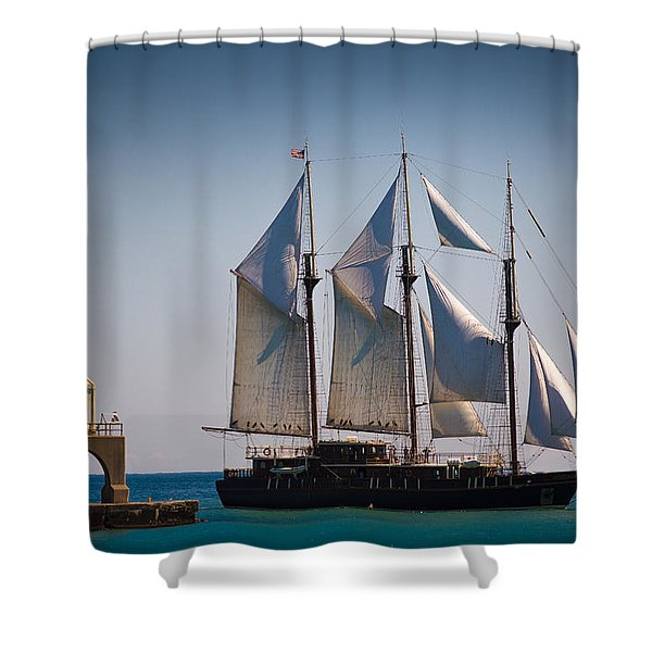 s/v Peacemaker Shower Curtain