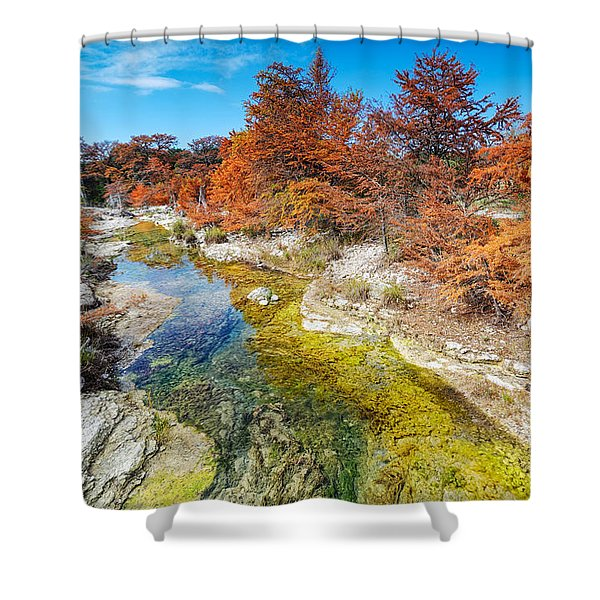 Sabinal River Magic Utopia Texas Hill Country Shower Curtain