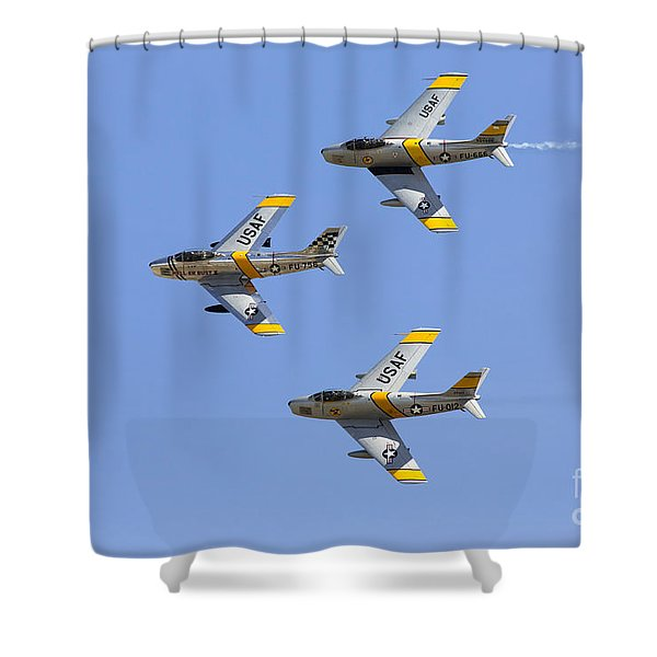 Sabres Of The Horsemen Shower Curtain