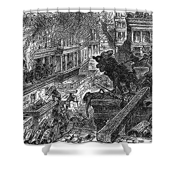 Sack Of Ctesiphon By The Romans Shower Curtain