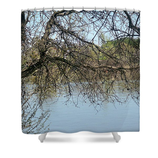 Fall At Sacramento River Scenic Photography Shower Curtain