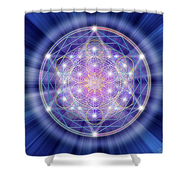 Sacred Geometry 46 Shower Curtain