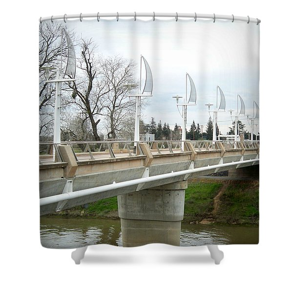 Sacramento California Water District Shower Curtain