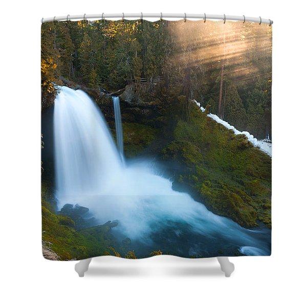 Sahalie Falls Shower Curtain