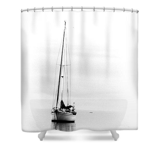 Sailboat Bw Too Shower Curtain