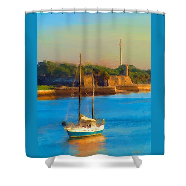 Da147 Sailboat By Daniel Adams Shower Curtain