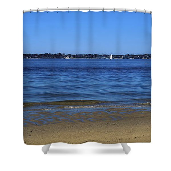 Sailboat In Ocean, Provincetown, Cape Shower Curtain