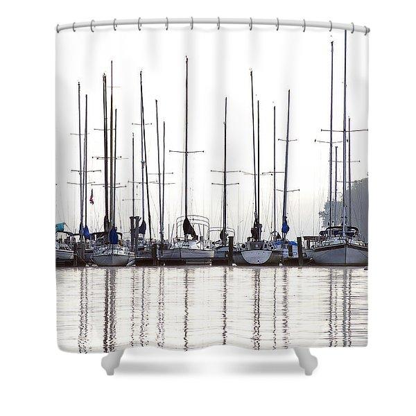 Sailboats Reflected Shower Curtain