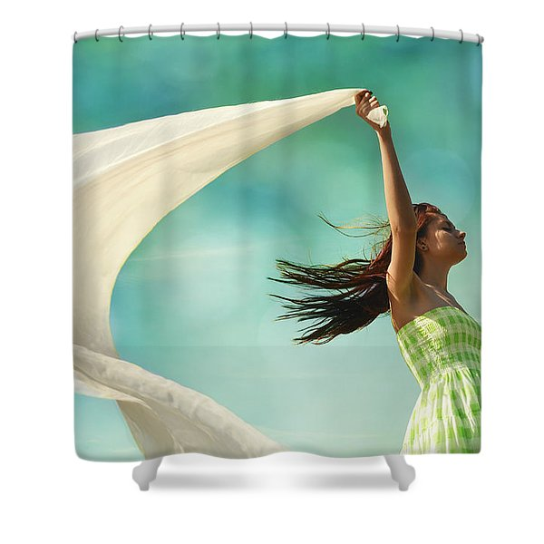 Sailing A Favorable Wind Shower Curtain