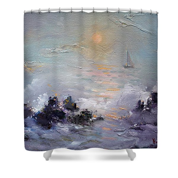Sailing Back Home Shower Curtain