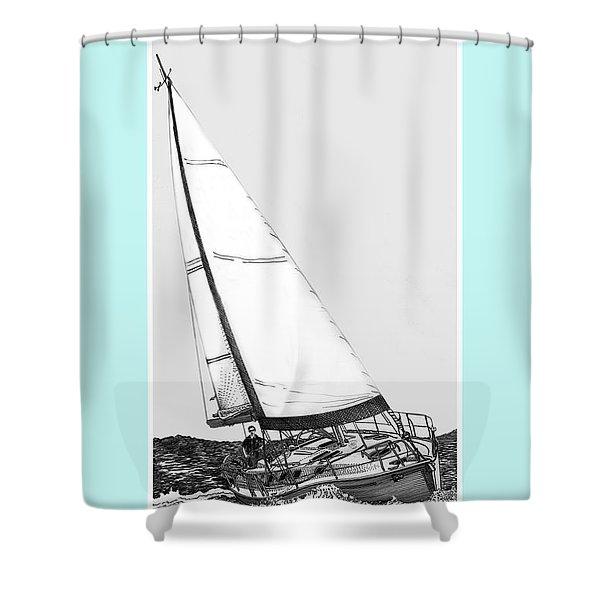 Sailing Freedom On A Reach Shower Curtain