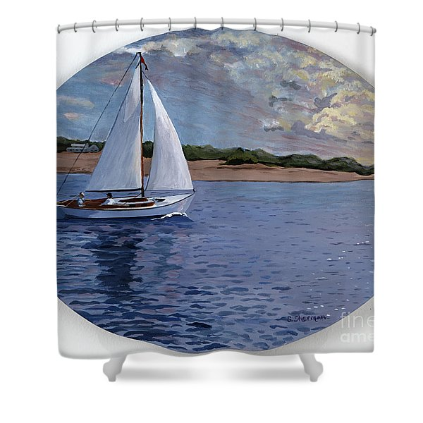 Sailing Homeward Bound Shower Curtain
