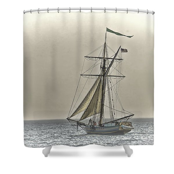 Sailing Off Shower Curtain