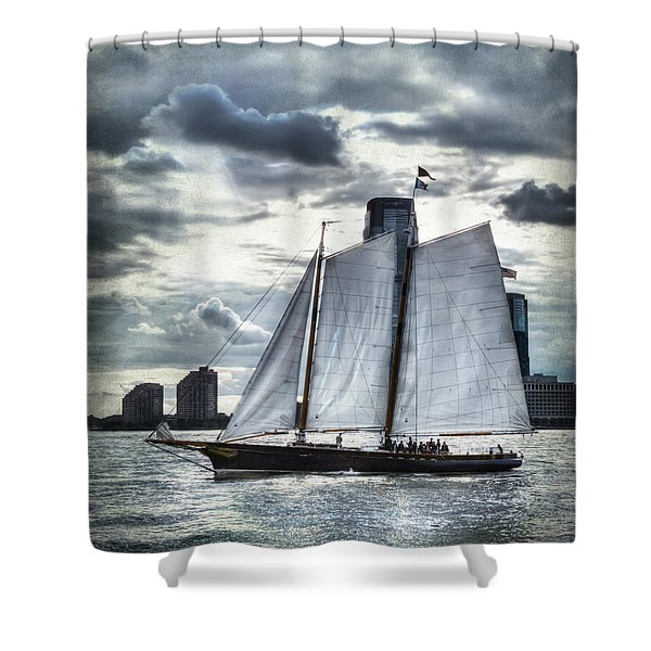 Sailing On The Hudson Shower Curtain