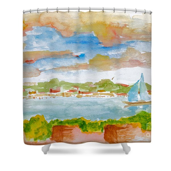 Sailing On The River Shower Curtain