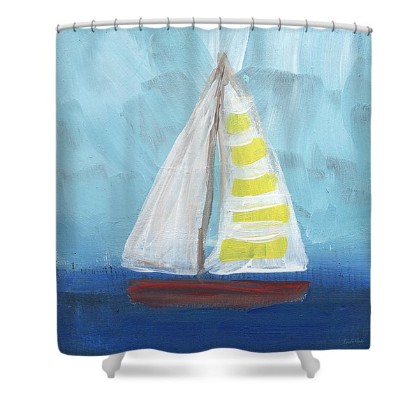 Sailing- Sailboat Painting Shower Curtain