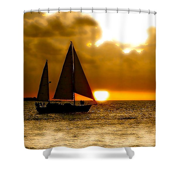 Sailing The Keys Shower Curtain