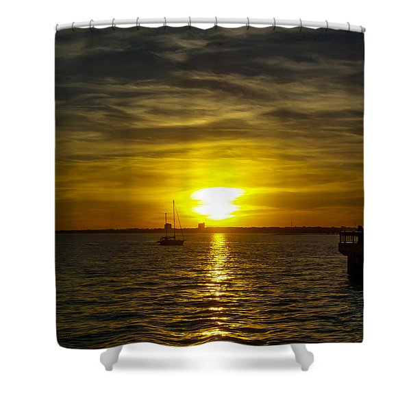 Sailing The Sunset Shower Curtain