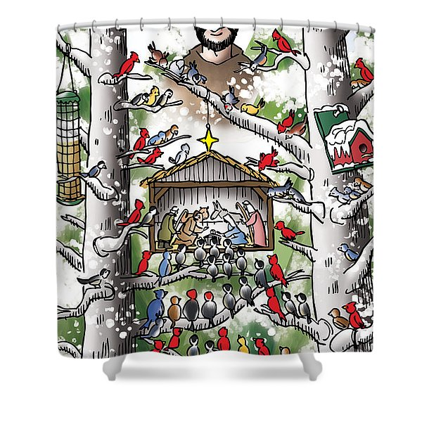 St. Francis And The Birds Shower Curtain