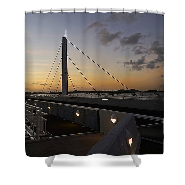 Saint Martin Causeway Bridge Shower Curtain