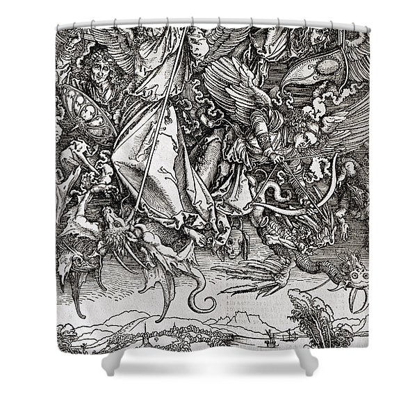 Saint Michael And The Dragon Shower Curtain