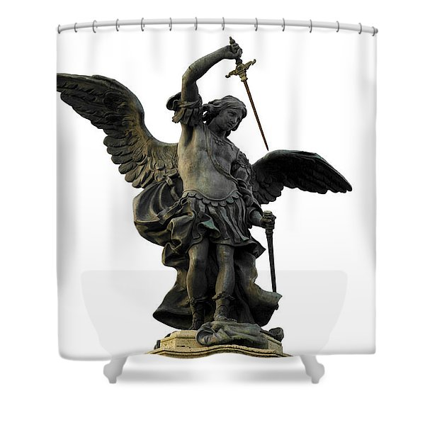Shower Curtain featuring the photograph Saint Michael by Fabrizio Troiani
