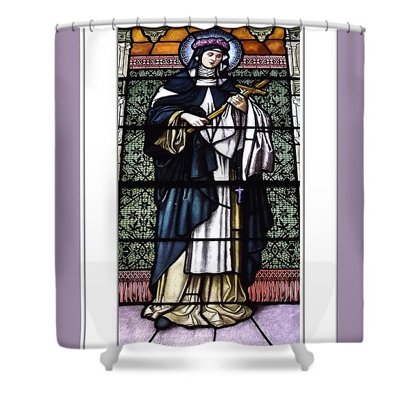 Saint Rose Of Lima Stained Glass Window Shower Curtain