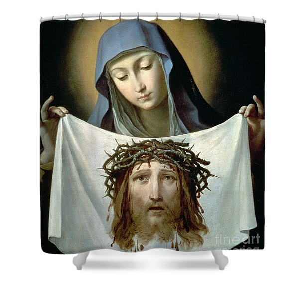 Saint Veronica Shower Curtain