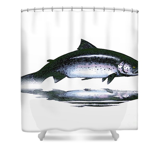 Salar - The Leaper Shower Curtain