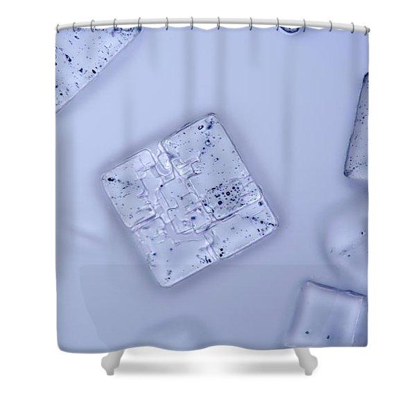 Salt Crystals, Lm Shower Curtain
