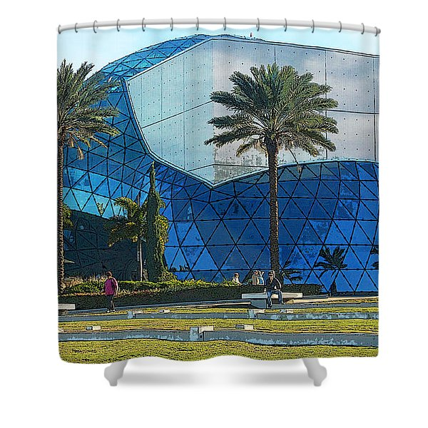 The Salvador Dali Museum Shower Curtain