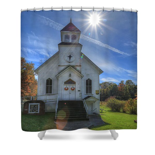 Sam Black Church Shower Curtain