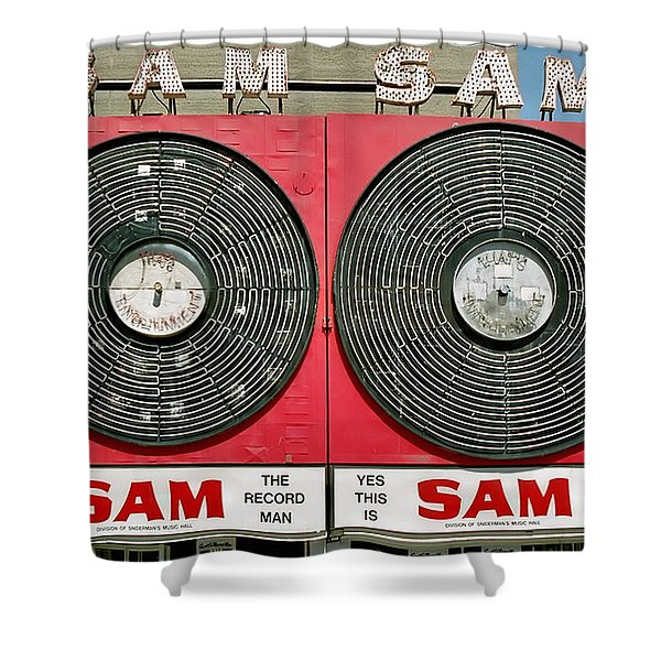 Sam The Record Man Shower Curtain