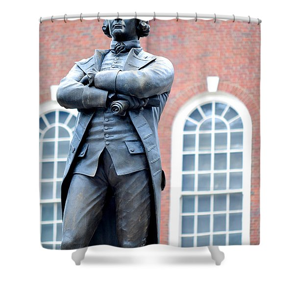 Samuel Adams Statue Massachusetts State House Shower Curtain