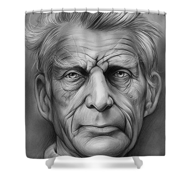 Samuel Beckett Shower Curtain