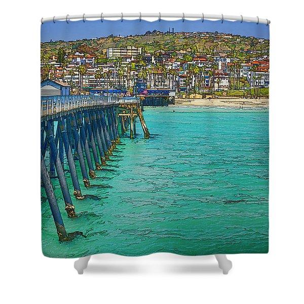 San Clemente Pier Shower Curtain