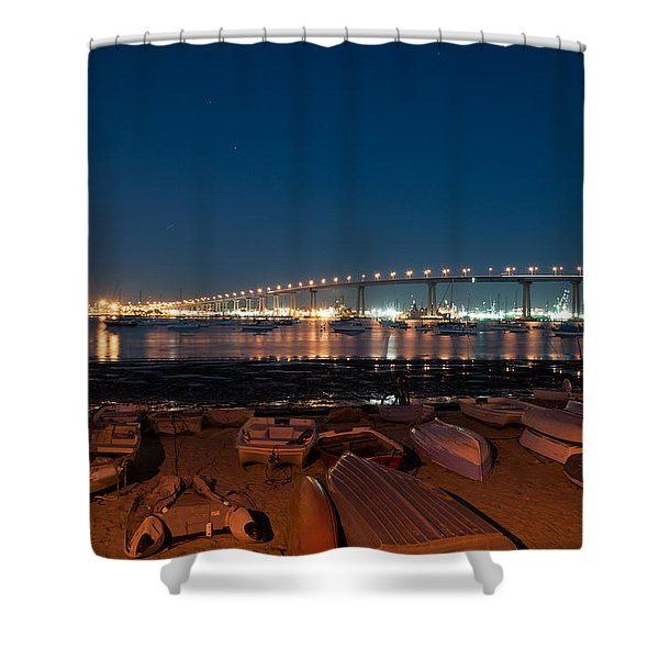 San Diego Bridge  Shower Curtain