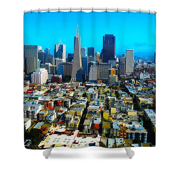 San Fran Colors Shower Curtain