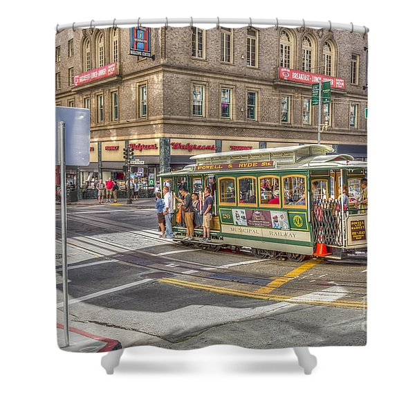 San Francisco Cable Car Shower Curtain