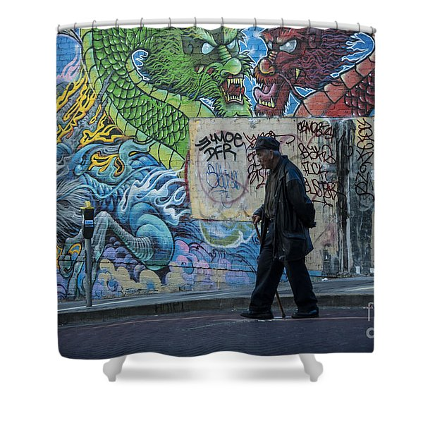 San Francisco Chinatown Street Art Shower Curtain
