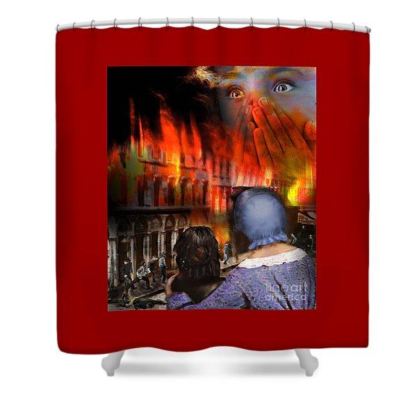 San Francisco Fire Shower Curtain