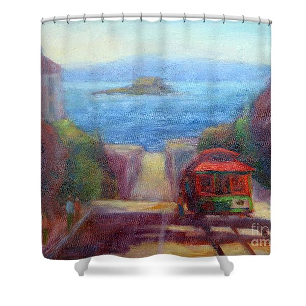 San Francisco Hills Shower Curtain