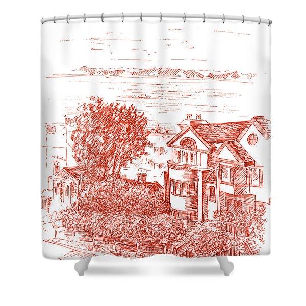 San Francisco Leavenworth Street Bay View Shower Curtain