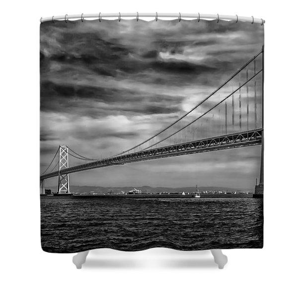 San Francisco - Oakland Bay Bridge Shower Curtain