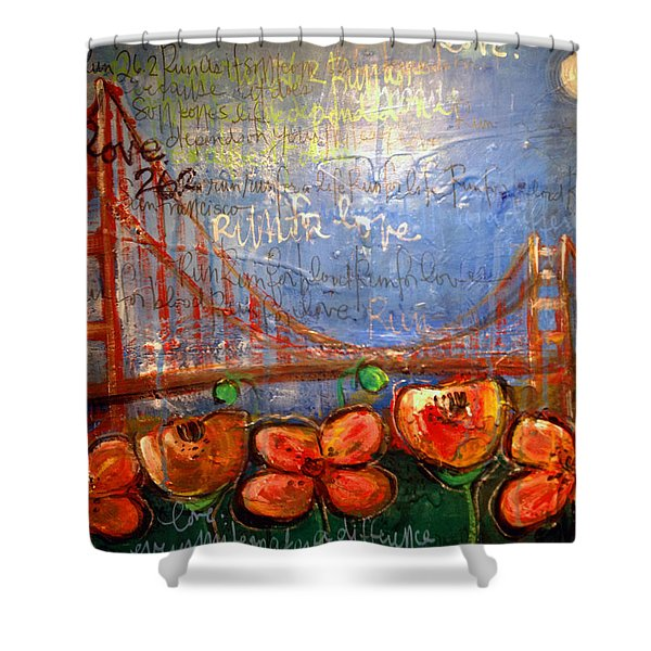 San Francisco Poppies For Lls Shower Curtain