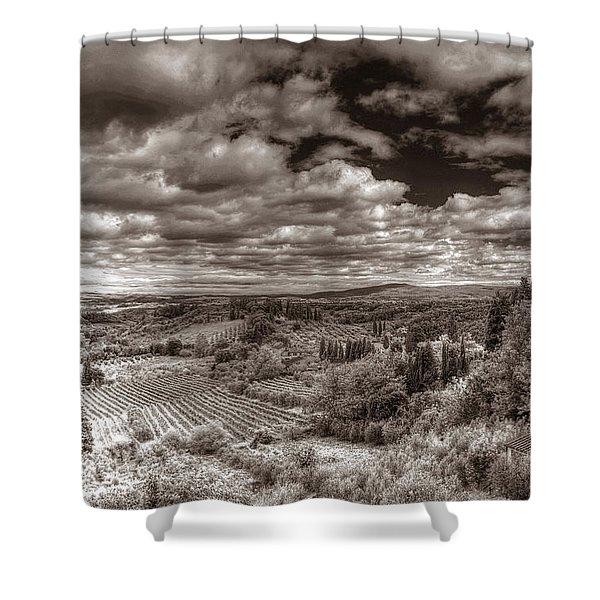 San Gimignano View Shower Curtain