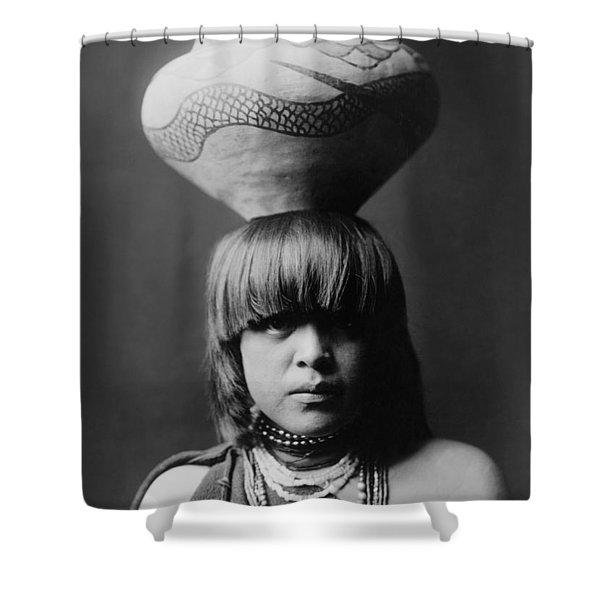 San Ildefonso Girl Circa 1927 Shower Curtain