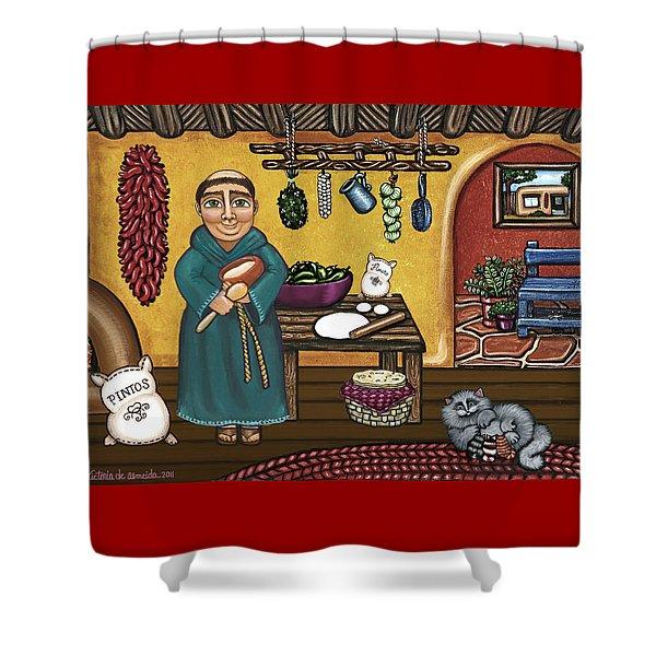 San Pascuals Kitchen Shower Curtain