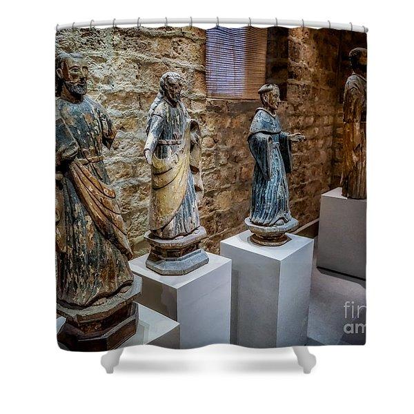 San Pedro Statue Shower Curtain