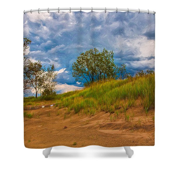Sand Dunes At Indian Dunes National Lakeshore Shower Curtain